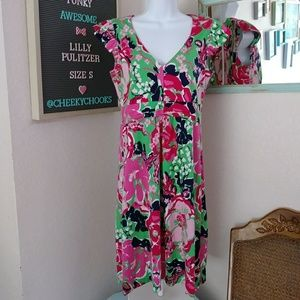 Lilly Pulitzer silk Cherry dress Thing Called Love